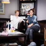 Diana Wicke (rechts), Inhaberin des Kosmetikstudios Puderdose und Charlotte König (links), Inhaberin des Ateliers Nähliebe